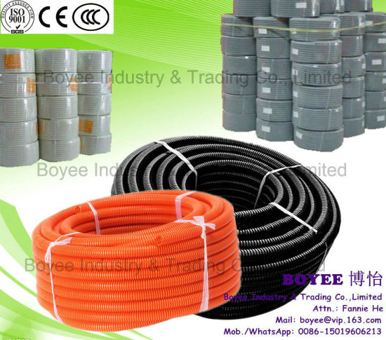 """1/2"""", 1"""", 3/4"""" PVC Corrugated Pipe Plastic Flexible Conduit for Cable Protection"""