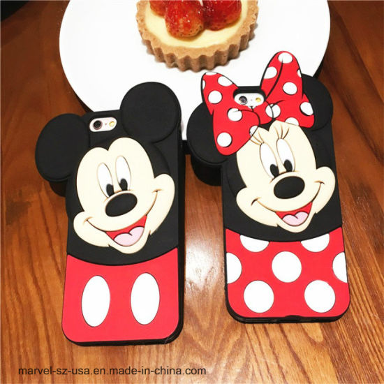 3D Cartoon Mickey Soft Silicone Cover Phone Case for iPhone pictures & photos