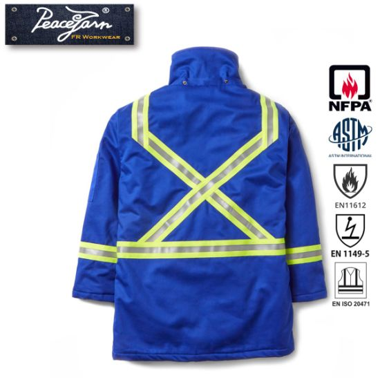 Flame Retardant Reflective Tape Jacket Workwear pictures & photos