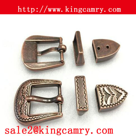 Metal Three-Piece Pin Buckle Three Pieces Western Belt Buckle Pin Buckle for Women pictures & photos
