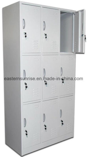 Quality Cheap 9 Door Metal Steel Iron Storage Locker/Cabinet/Wardrobe pictures & photos