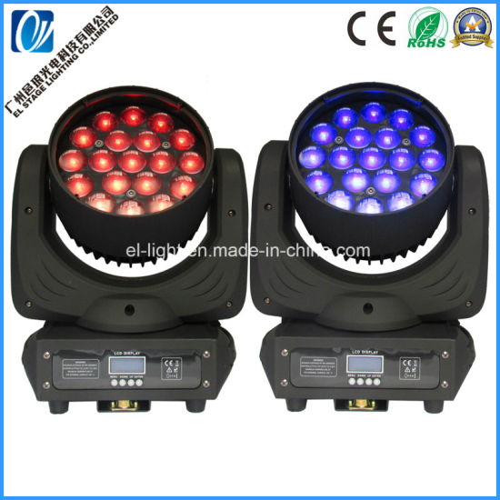19*15W Martin Mac Aura 4in1 RGBW Zooming Beam Wash LED Moving Light with 3 Motors
