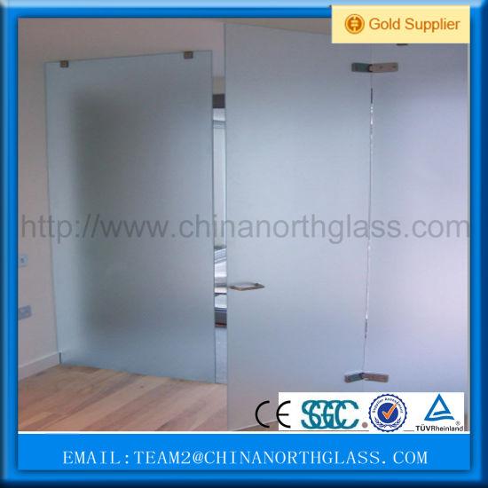 3mm-12mm Acid Etched Glass Price / Design Acid Etched Glass for Decorative