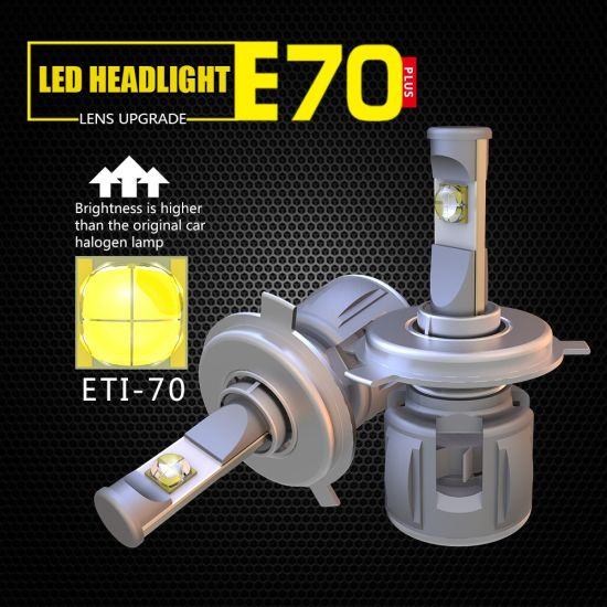 Wholesale High Lumen E70 H4 LED Headlight Car Automobile Lighting LED Auto Light for Ford Spare Parts