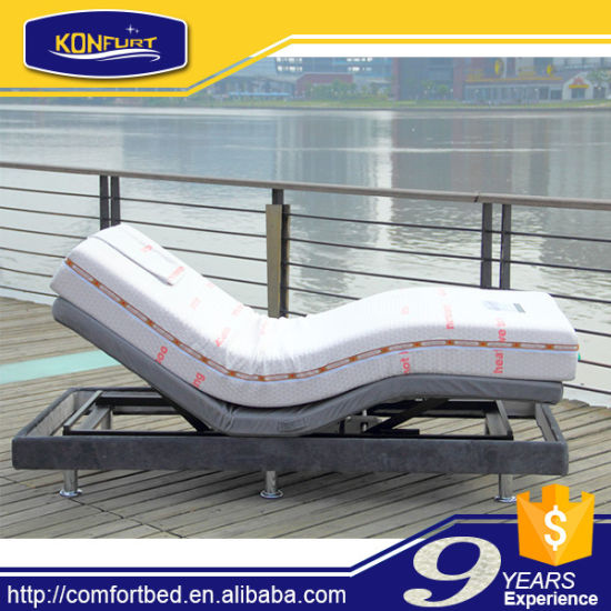 Single Size Electric Bed Adjustable Bed with Bed Skirt pictures & photos