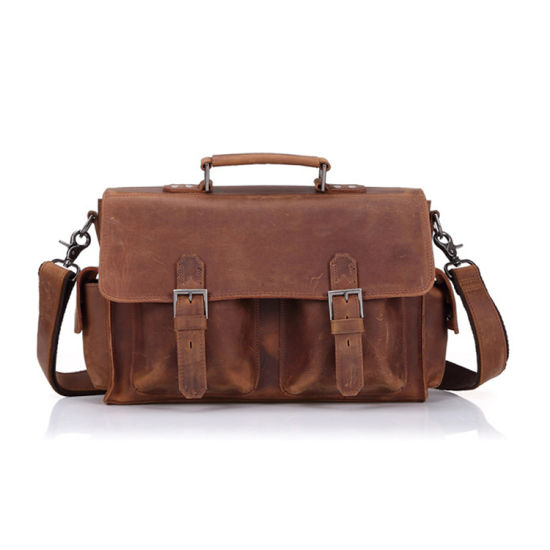 European Retro Style High Quality Genuine Leather Shoulder Bag Leather Messenger