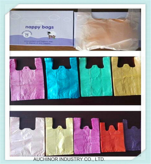 Disposable Plastic Thin Bags Customized Colors Baby Nappy Diaper Sack pictures & photos