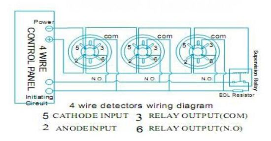 2 Wire Conventional Optical Smoke Detector For Fire Alarm Es