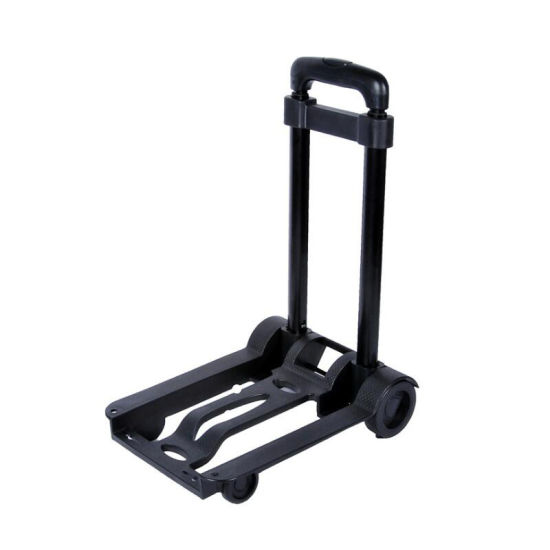 Folding Cart Aluminum Heavy Duty Hand Truck 500 Ibs Adjustable Height with 2 Ropes with Hooks to Fasten The Luggage Esg11969 pictures & photos