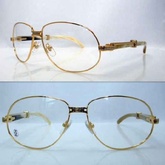 China Ct White Mix Yellow Horn Bend Eyeglasses / Ct Horn Reading ...