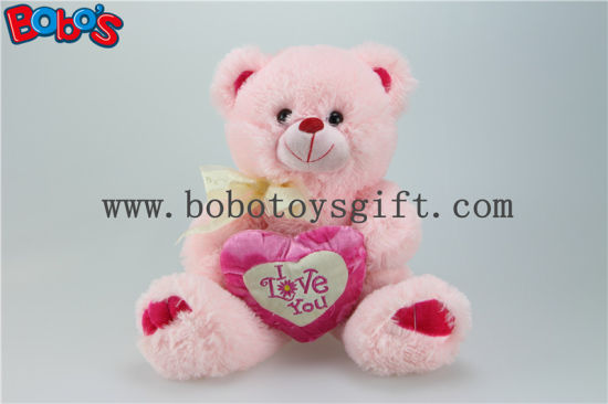 China i love you pink plush teddy bear with pink heart pillow i love you pink plush teddy bear with pink heart pillow altavistaventures Images