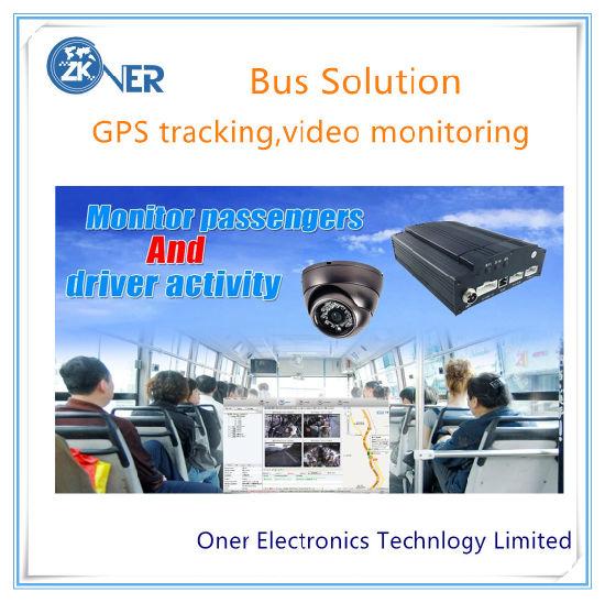 Car DVR GPS Tracking System with 4 Car Cameras