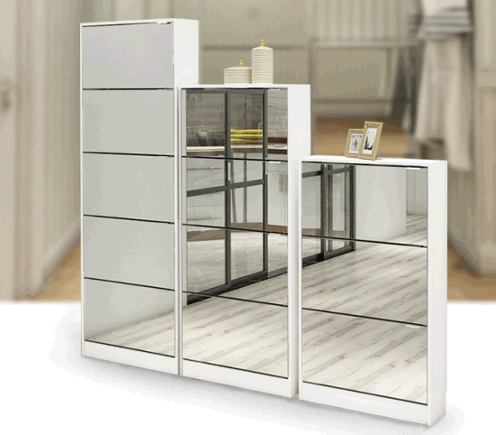 Morden Shoe Cabinet with Mirror