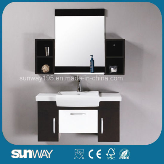 2017 Glossy Wooden Bathroom Cabinet Sw-Mj906W
