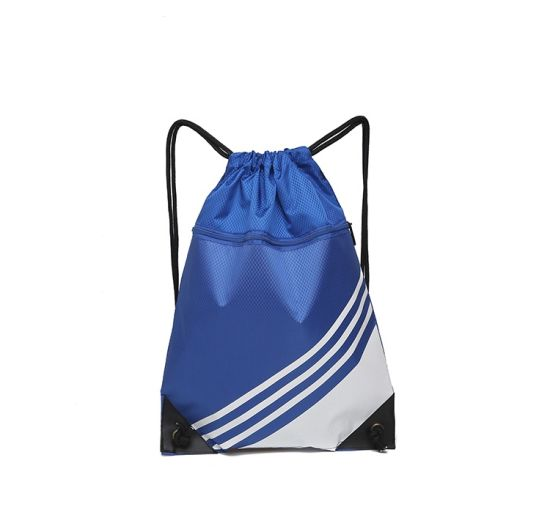 Custom Printing Logo Promotional Polyester Backpack Eco Friendly Sport Gym Drawstring Bags