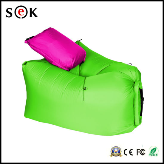 Pleasant Hot Item Fast Air Filling Outdoor Travel 210T Nylon Ripstop Inflatable Folding Lamzac Hangout Sleeping Lazy Bag Sofa Pabps2019 Chair Design Images Pabps2019Com