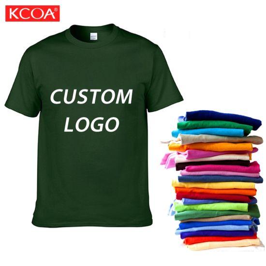 High Quality Fashion Green Customized Blank Cotton Men Tee Shirt