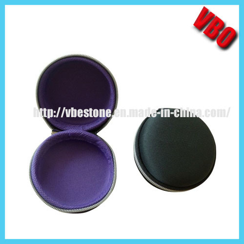 New Round Shaped Headphone Case, Earphone Carrying Case