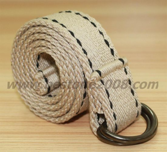 High Quality Spun Polyester Canvas Belt for Garment Accessories (1501-24)
