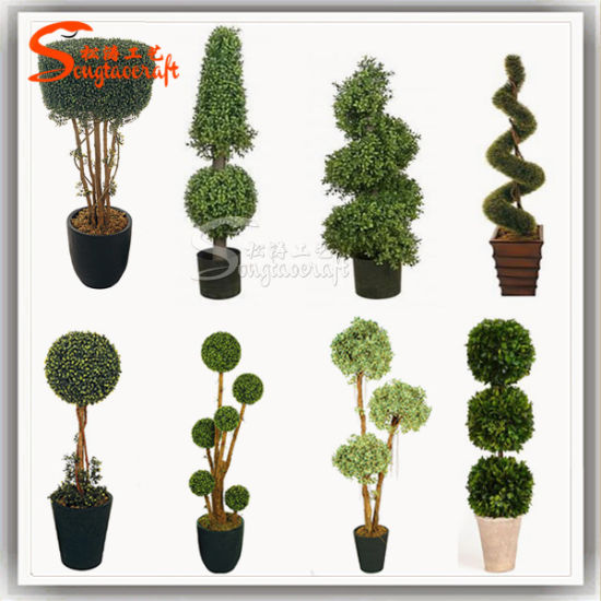 Exceptionnel Artificial Garden Grass Buxus Balls Boxwood Topiary Trees Pots Plants