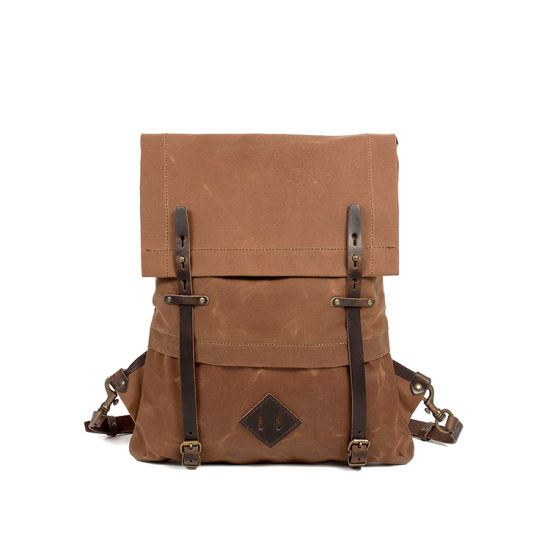 0f78a86577 China Fashionable Daily Use Vintage Brown Canvas Laptop Backpack for ...