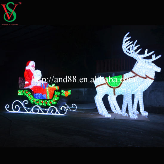 Christmas Santa Sleigh and Deer pictures & photos
