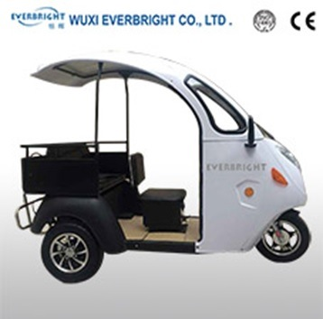 Electric Auto Rickshaw Tricycle with Cargo