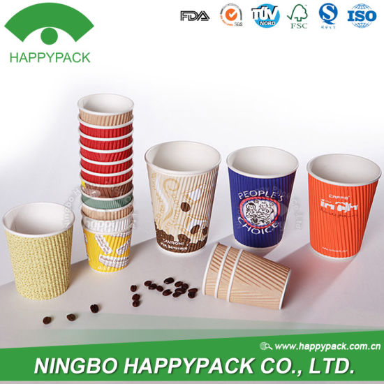 [Hot Item] Ripple Paper Cup with Customized Logo