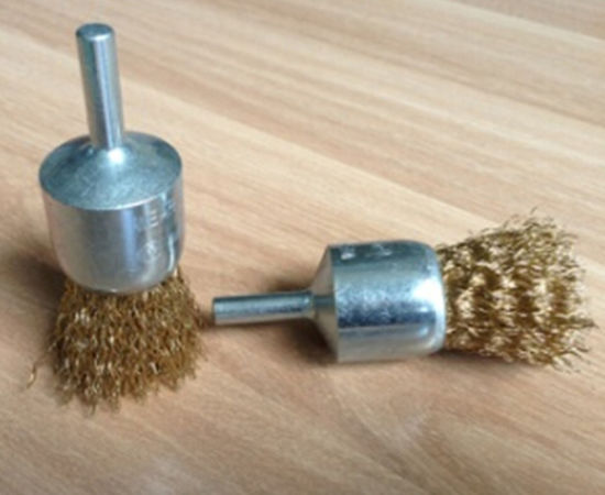 Knot Type Crimped Wire End Brush with 1/4-Inch Shank pictures & photos