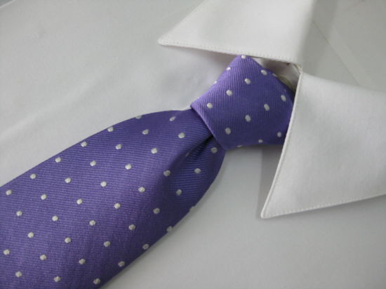 Dotty Design Men's Woven Silk Neckties