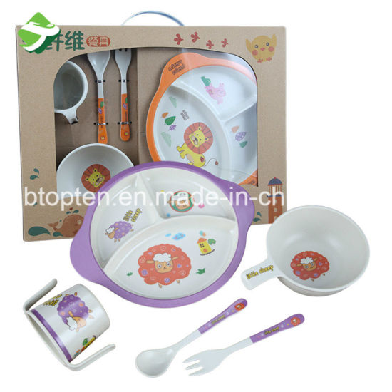 Biodegradable Custom Bamboo Kids Dinnerware  sc 1 st  Ningbo Topten Industry Co. Ltd. : custom plastic dinnerware - pezcame.com