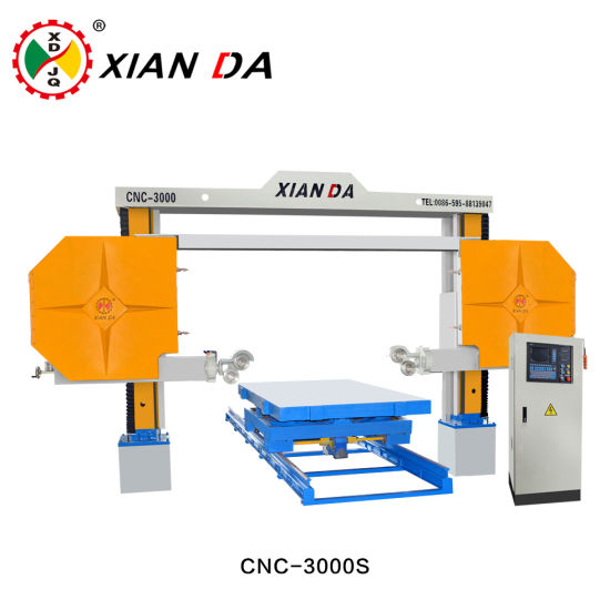 China CNC-3000s CNC Granite and Marble Diamond Wire Saw Cutting ...