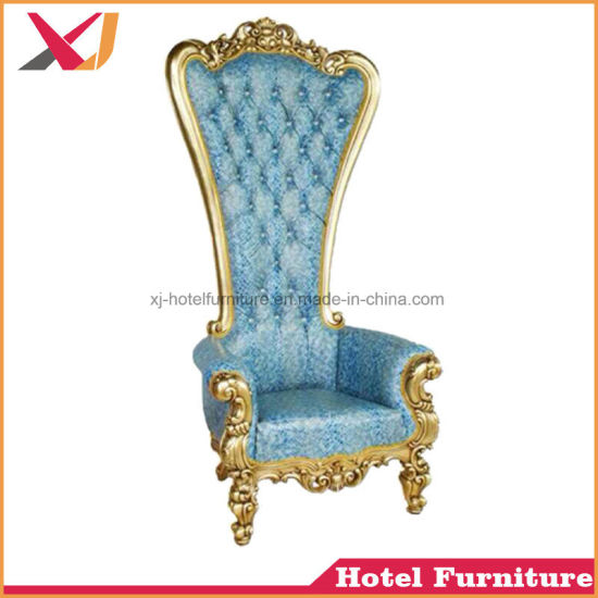 High Quality Wedding Used White Gold King Queen Throne Chair Wedding Sofa