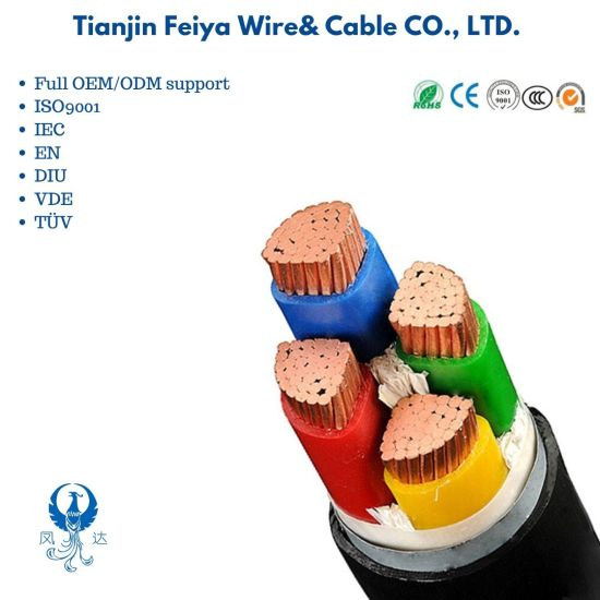 Yjv22 0.6/1kv 4 Core 185mm Low Voltage Armored Power Cable