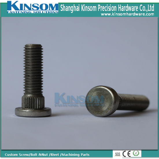 Stainless Steel A4-80 316 Flat Knurled Machine Screw of Automotive Fasteners pictures & photos