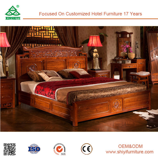 High Quality Bedroom Furniture Wooden Modern King Bed