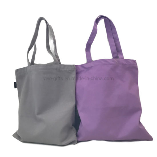 Ladies Natural Color Custom Logo Printing Shopping Bags