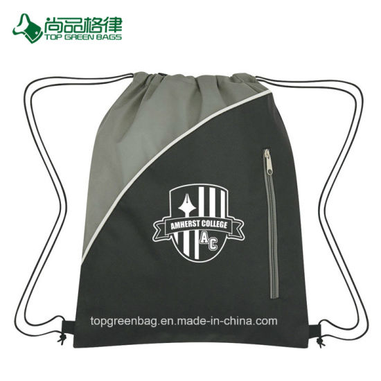 85e6754035 Promotional Custom Silk Screen Print Logo Non-Woven Drawstring Pack Bag  pictures   photos