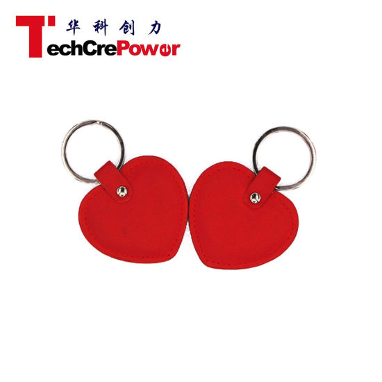 China Leather Key Ring 125kHz RFID Leather Key Tag - China