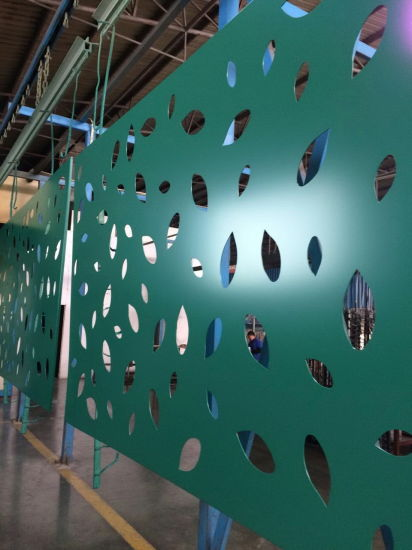 Globond Powder Coated Perforated Aluminum Panel pictures & photos