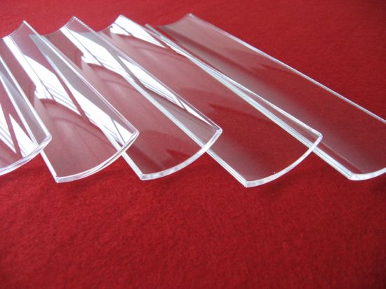 Hot Selling Half Round Quartz Glass Plate pictures & photos