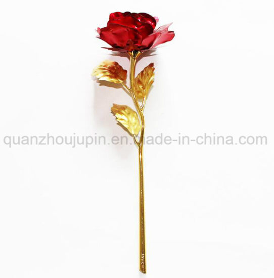 China Oem High Quality Golden Rose Flower For Valentine Gift China
