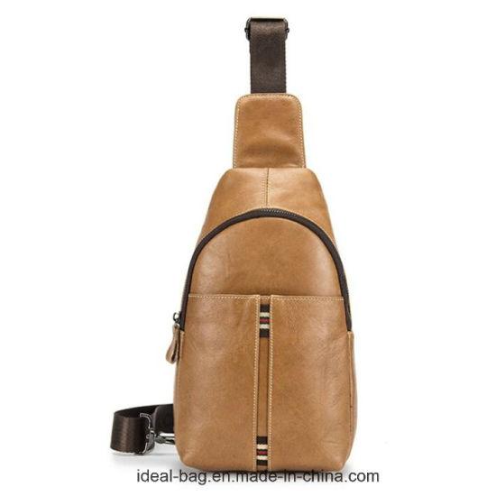 Custom Cow Leather Men Chest Bag Wholesale