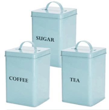 3PC Tea Coffee Sugar Canister Set
