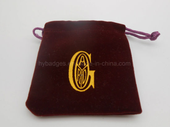 Cotton Drawstring Gift Bag, Velvet Charm Packing Pouch (GZHY-dB-005)