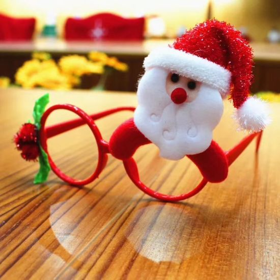 14*5.5cm Christmas Glasses Frames for Xmas Decorative Kid Gift Children Ornament-00013