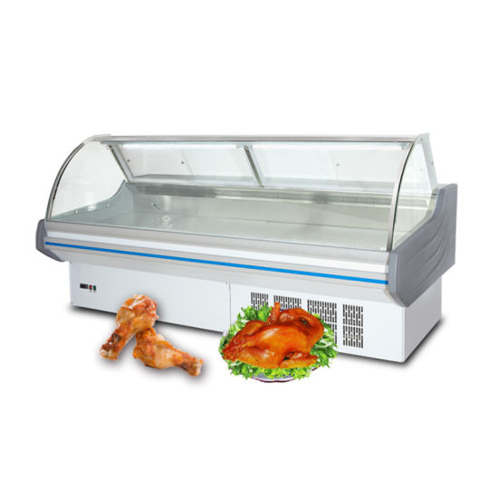 Fresh Meat OEM Deli Display Vertical Meat Refrigeration