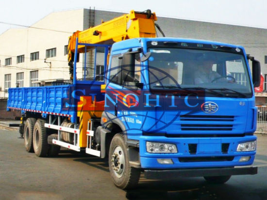 8-12 tons FAW lorry truck mounted crane lorry truck-mounted crane pictures & photos