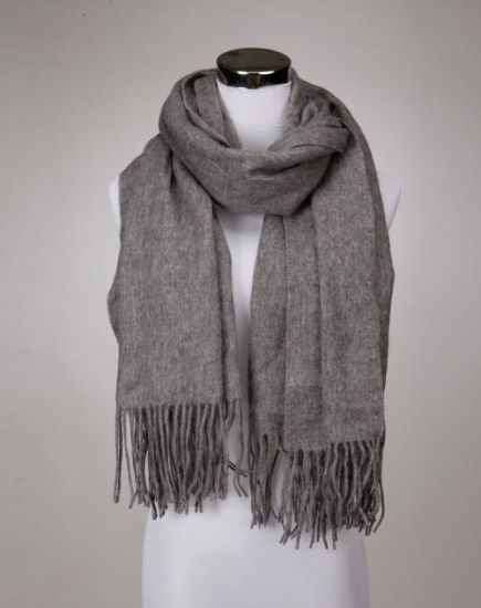 Custom Printed 100% Water Soluble Wool Shawl with Fringes for Ladies