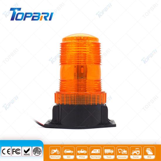 12V 24V Amber Rotating LED Beacon Light for Emergency Vehicle